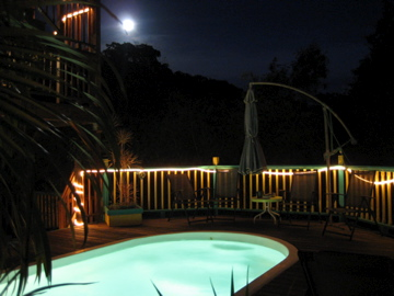 The pool by moonlight
